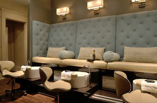 pedicure area at Haven Spa in Rhinebeck, New York