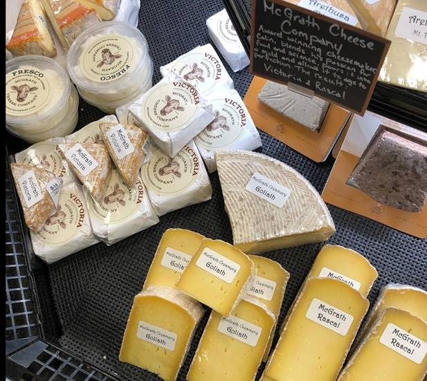 artisanal cheeses at McGrath Cheese Company in Hudson, New York