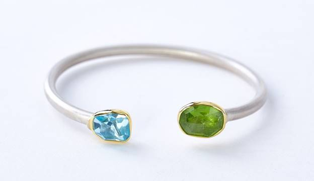 silver bracelet made by Hummingbird Jewelers in Rhinebeck, New York