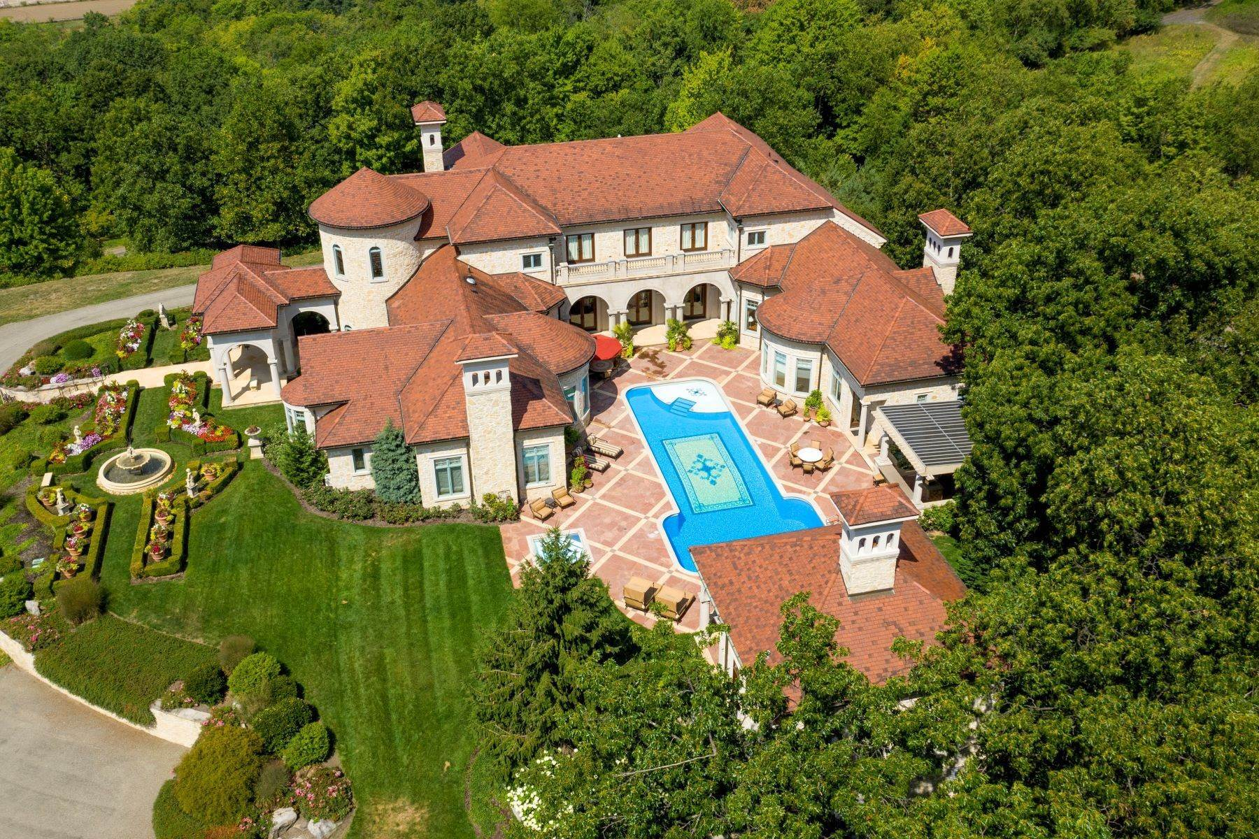 Single Family Homes for Sale at Exquisite Italian Renaissance Villa 340 Fox Hunt Road Pittsburgh, Pennsylvania 15238 United States