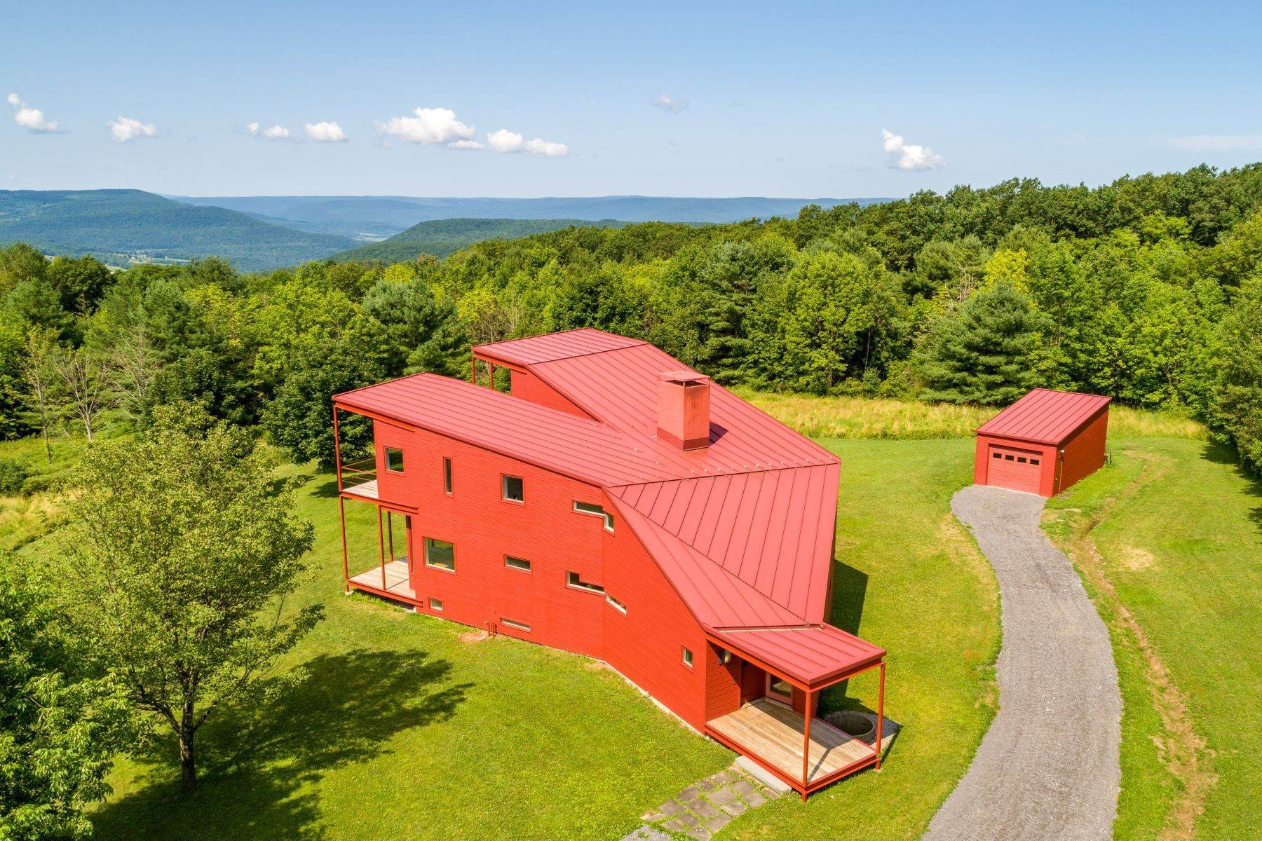 Single Family Homes for Sale at Y House in the Catskills 434 Lawton Hollow Rd Middleburgh, New York 12122 United States