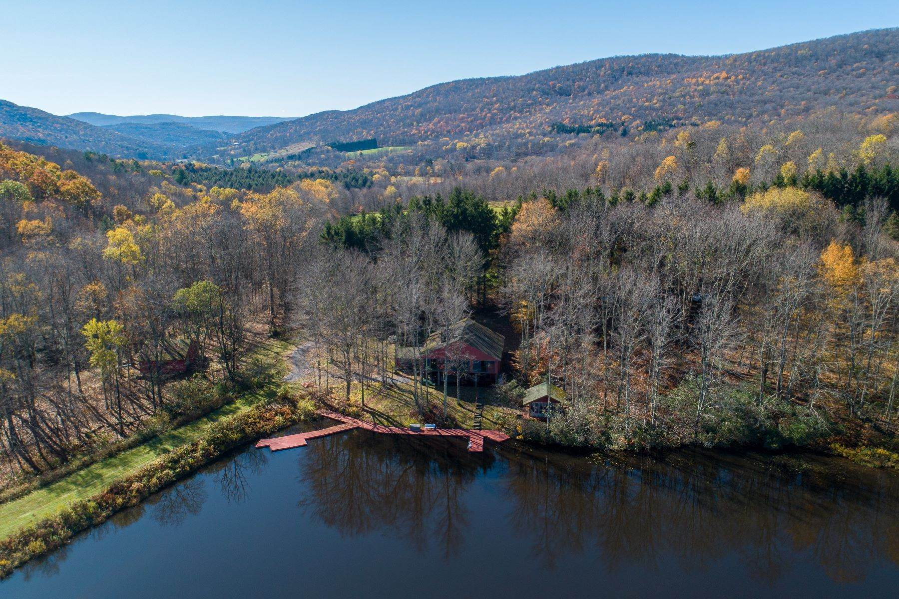 Single Family Homes for Sale at Realty Exceeds the Dreams on 17 Acre Private Lake 444 Skunk Hollow Road, Off Fall Clove Rd Andes, New York 13731 United States