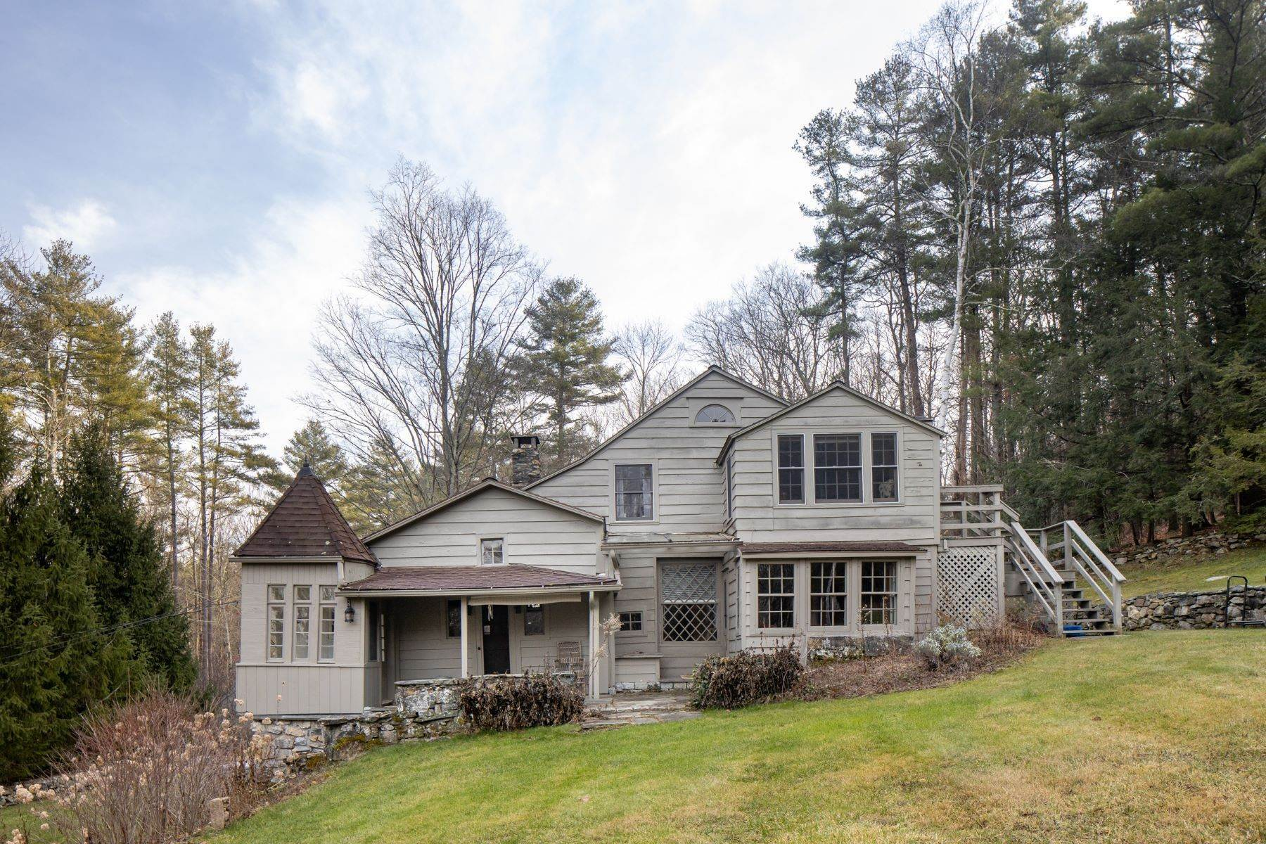Single Family Homes for Sale at Magical European style home on 9.56 acres with pond 196 Route 63 Falls Village, Connecticut 06031 United States